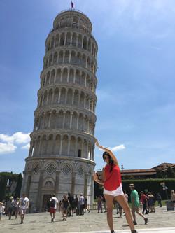 La famosa torre de Pisa, Italia