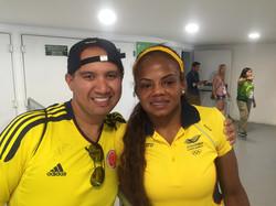 Jacky Renteria con el soñador Diego