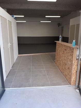Comptoir d'acceuil du club de JJB / Grappling à Lyon Centre