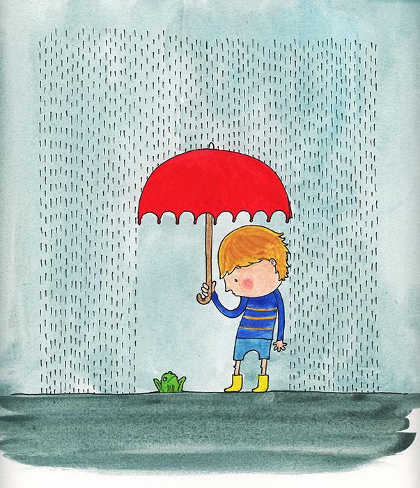 ritrovarsi nella pioggia