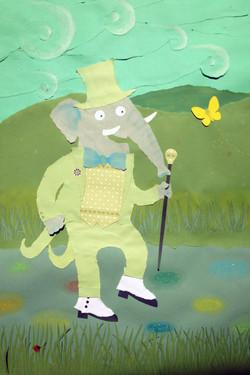 l'elefante con le ghette