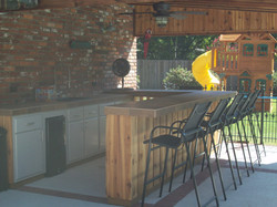 Custom Built Tiki Bar