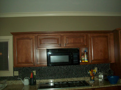 Custom Tile Backsplash & Cabinets