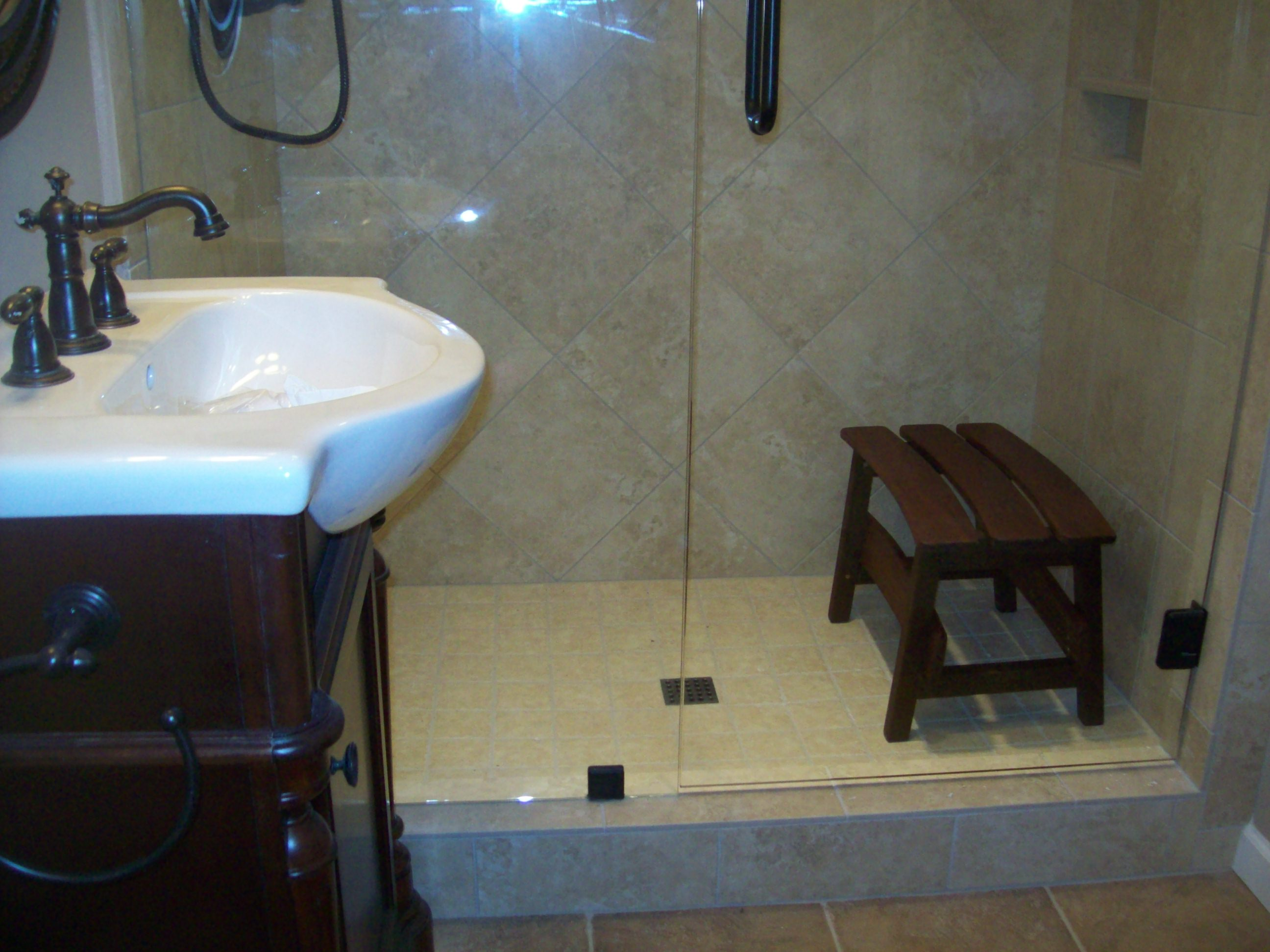 Custom made shower seats