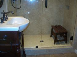 Custom made shower seats
