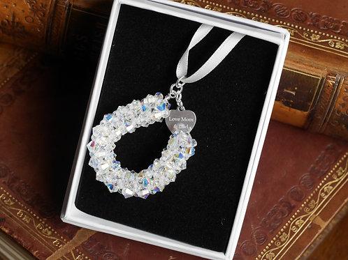 Bridal Bouquet Horseshoe Charm -Optional engraving