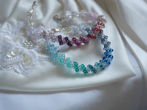 Spiral Rope Style Bracelet- Ombre Effect Swarovski Crystals