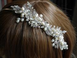 Freshwater Pearls Side Tiara
