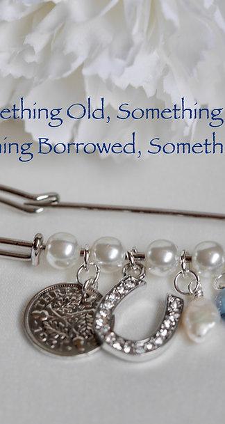 Pearl Keepsake Pin/ Wedding Brooch with Personalised engraving