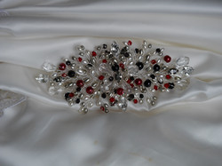 Bridal sash brooch