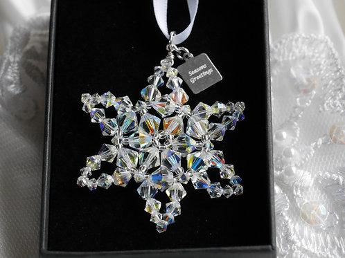 Sparkling Crystal Star Christmas Decoration