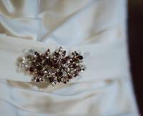 Hand made bridal sash brooch