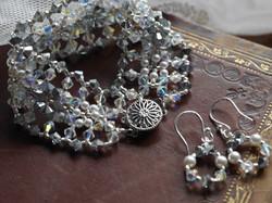 """Antique Lace"" Bracelet & Earrings"