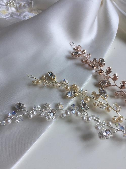 Navette Diamantès &  Crystal/Pearl Hair Vine