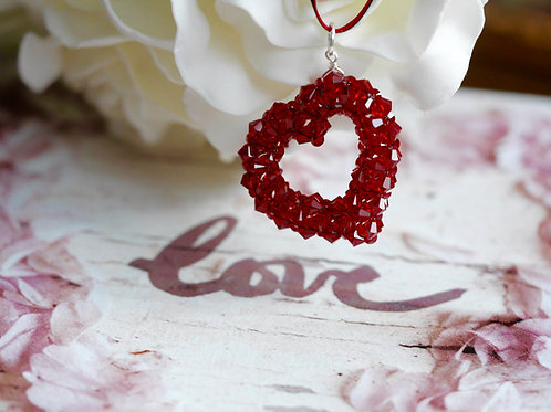 VALENTINE'S Sparkling Hand made Crystal Love Heart optional PERSONALISATION