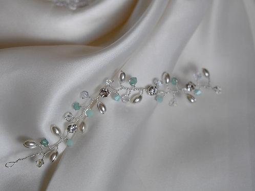 Swarovski Crystal/Pearl Hair Vine SHORT