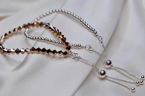 Swarovski Crystal & Sterling Silver Slider Clasp Bracelet