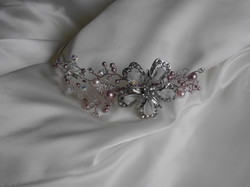 Powder Rose Side Tiara