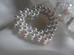 Swarovski Pearl Heart Bouquet Charm