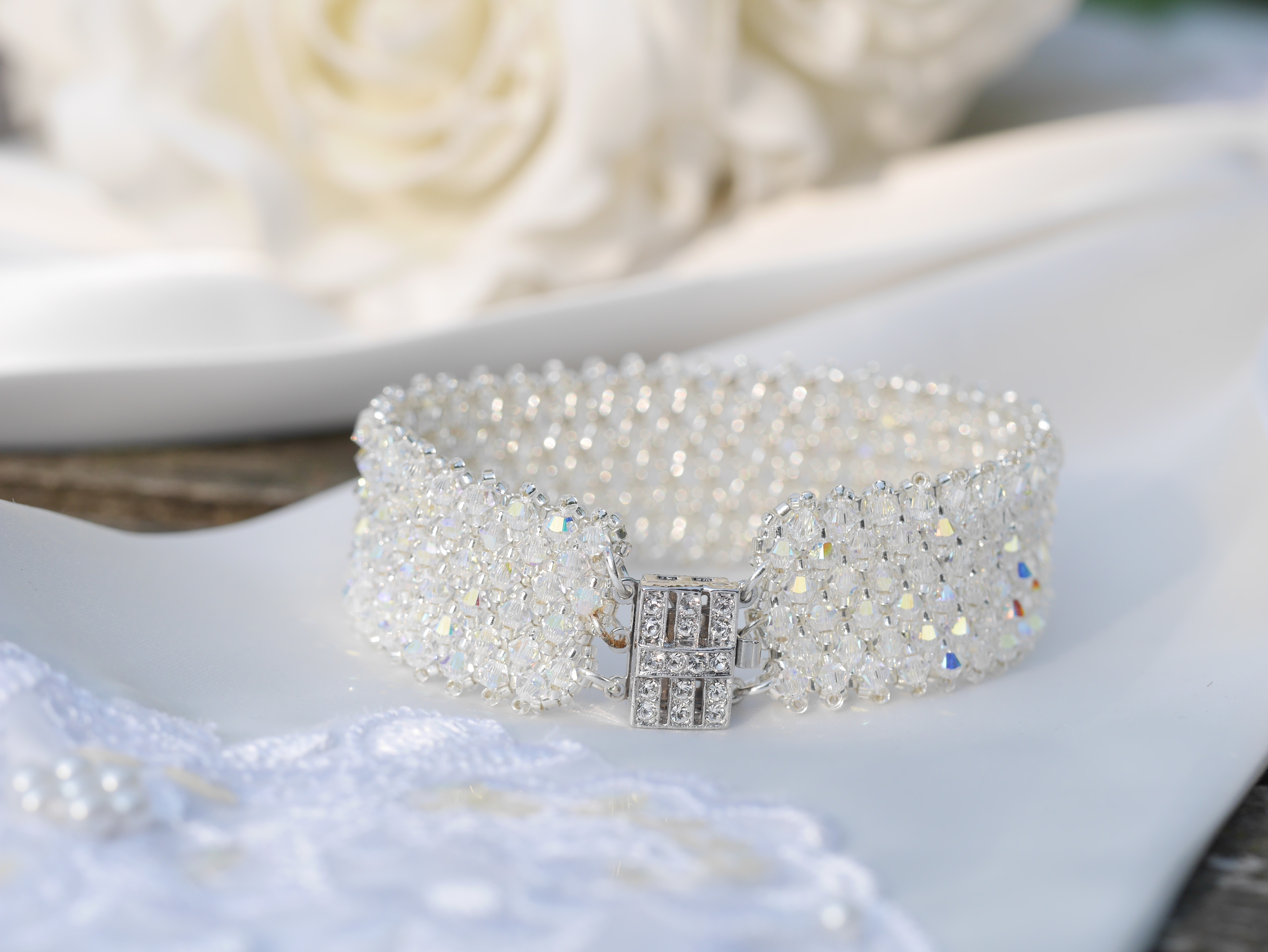 Crystal Encrusted Bracelet