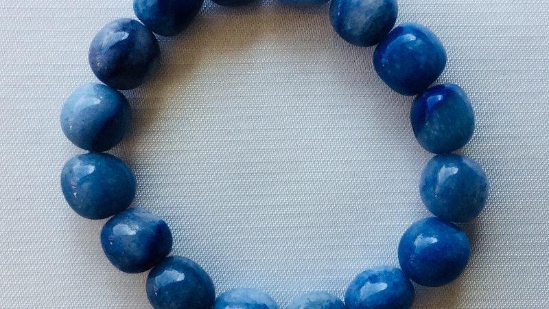 Bracelet à pierre Quartz bleu