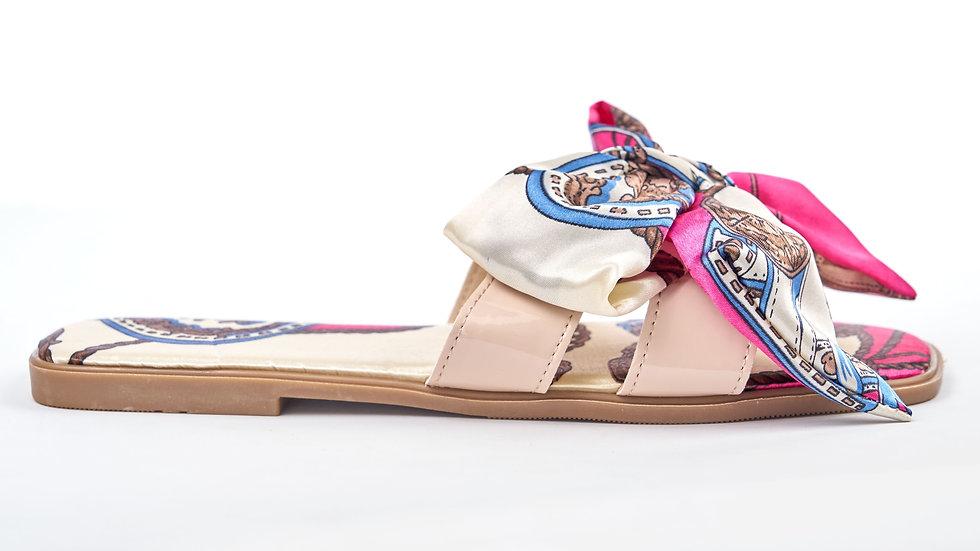 Sandales plates à foulard