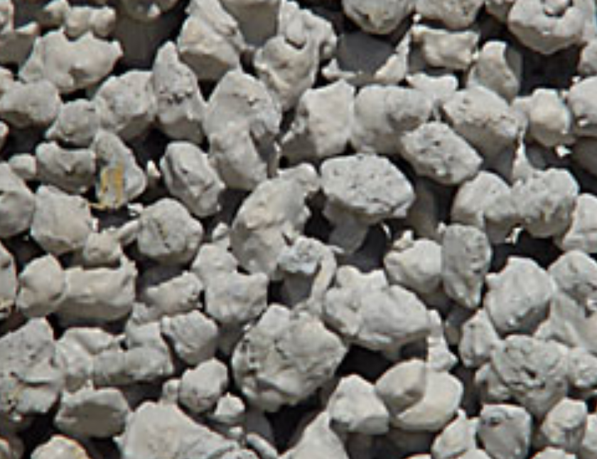 close up of small grey pumice rocks