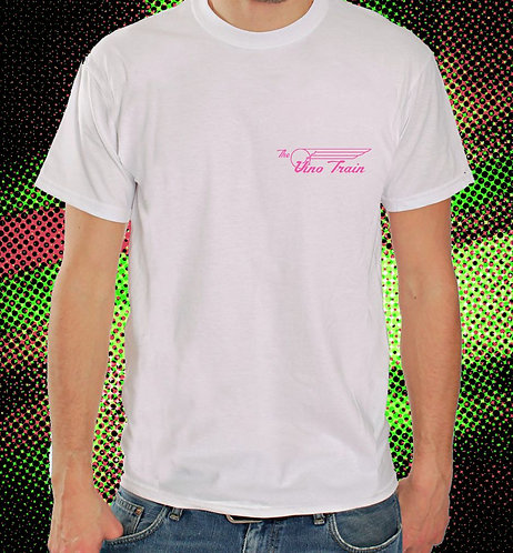 THE VINO TRAIN PINK MEN'S TEE