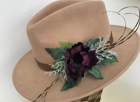 Dark purple anemone flower clip
