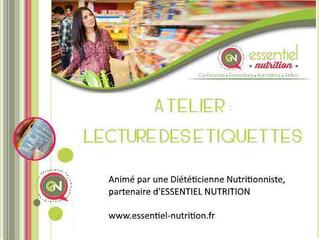 """Atelier """"Décrypter les étiquetages alimentaires"""""""