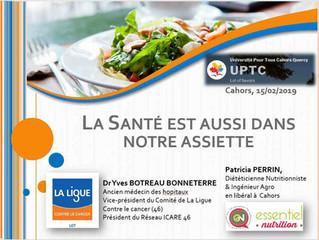 """Conférence """"La santé est aussi dans notre assiette"""""""