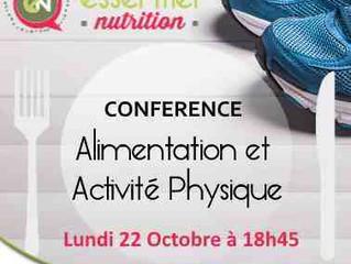 """Conférence """"Alimentation et activité physique"""""""