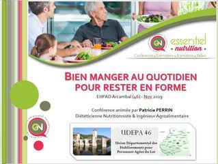 """Formation """"Bien manger au quotidien  pour rester en forme"""" - Directeur d'EHPAD (46)"""