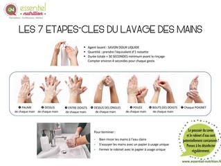 """Affiche """"Les 7 gestes-clés du lavage de main"""""""