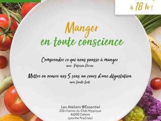 """Atelier """"Manger en toute conscience"""""""