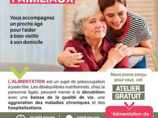 ATELIERS AIDANTS : L'accompagnement à domicile de la personne âgée à risque de dénutritition