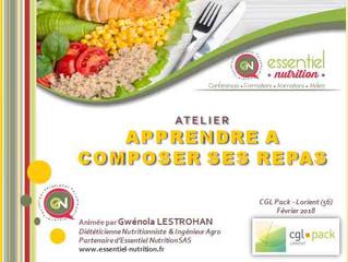 """Atelier """"Apprendre à composer ses repas"""""""