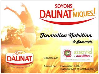 Formation Nutrition et Sommeil - Sept/Déc 2016