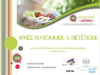 """Conférence """"Apnée du Sommeil & Diététique"""""""