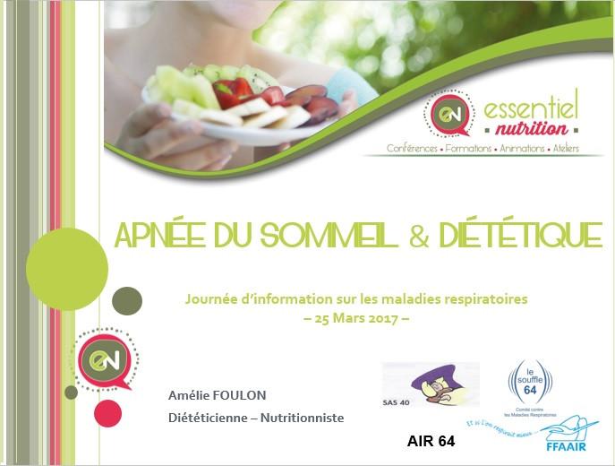 Essentiel Nutrition / Apnée du sommeil et Diététique