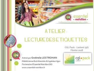 """Atelier """"Lecture des étiquettes"""""""