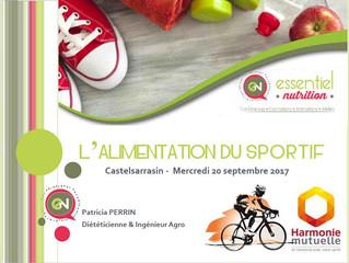 "Conférence ""L' Alimentation du Sportif"""