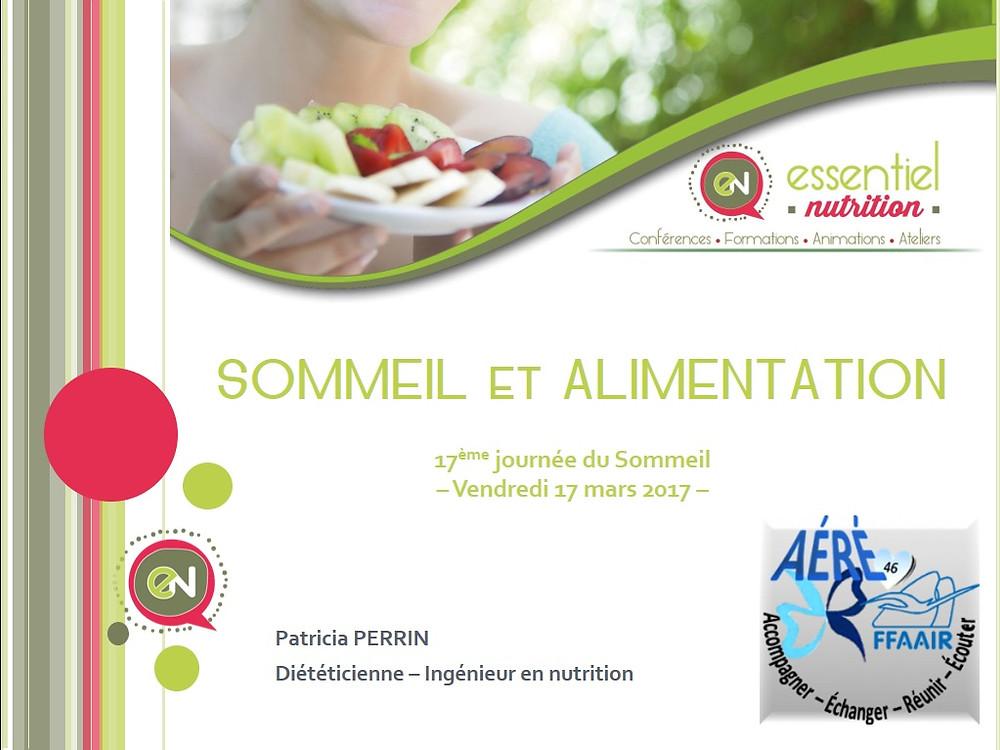 Sommeil et Alimentation/ Essentiel Nutrition