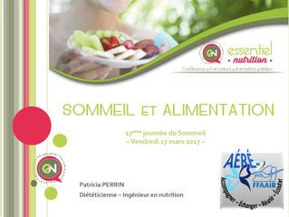 """Conférence """"Sommeil et Alimentation"""""""