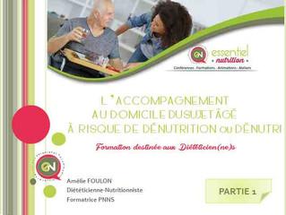 FORMATION PRO : L'accompagnement à domicile de la personne âgée à risque de dénutrition ou dénutrie.