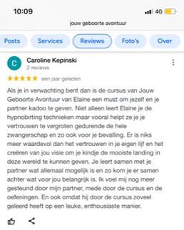 Google review van Caroline