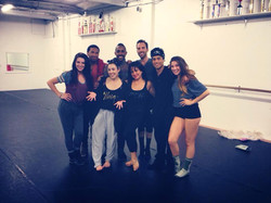 rehearsing with my dancers