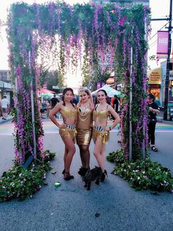 Me & my dancers performing at Gay Pride