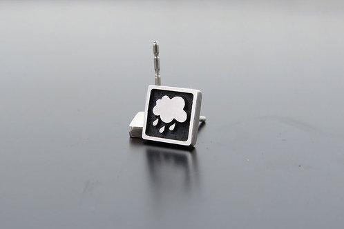 Cloud earrings, silver earrings with clouds