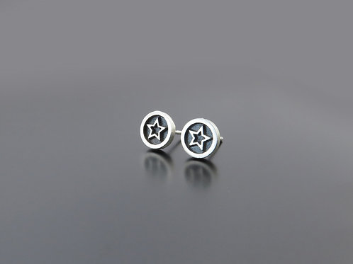 Silver Star Earrings, Star studs, Fashion earrings super star, Israel silver